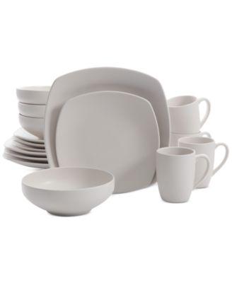 Signature Living 16-Pc. Majorca Matte Glaze Linen Square Dinnerware Set  sc 1 st  Macy\u0027s & Signature Living 16-Pc. Majorca Matte Glaze Linen Square Dinnerware ...