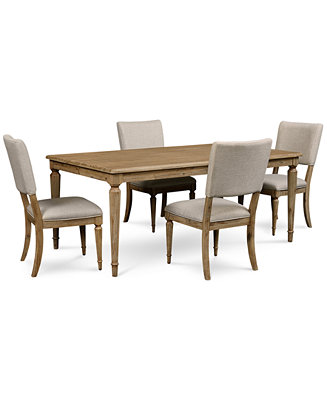 Summerside 5 pc dining set dining table 4 chairs for Macys dining table