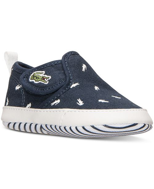 ab2be779f Lacoste Infant Boys  Gazon Print Crib Sneakers from Finish Line ...