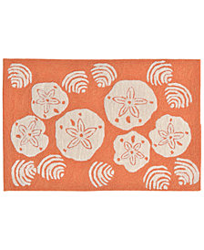 Liora Manne Front Porch Indoor/Outdoor Shell Toss Coral 2'6'' x 4' Area Rug