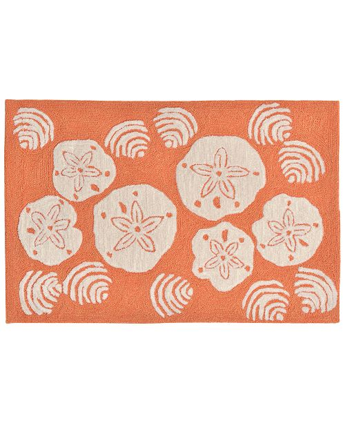 Liora Manne' Liora Manne Front Porch Indoor/Outdoor Shell Toss Coral 2' x 3' Area Rug