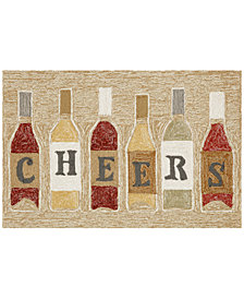 Liora Manne Front Porch Indoor/Outdoor Cheers Rose 2' x 3' Area Rug