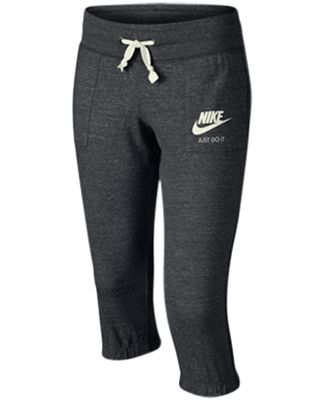 Nike Sportswear Gym Vintage Capri Pants, Big Girls (7-16) - Kids ...