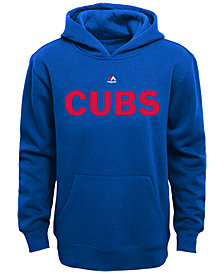 Majestic Kids' Chicago Cubs Wordmark Fleece Hoodie, Big Boys (8-20)