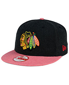 New Era Chicago Blackhawks Heather Action 9FIFTY Snapback Cap