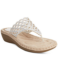 Cliffs by White Mountain Cameo Thong Wedge Sandals