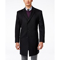 Deals on Kenneth Cole Reaction Mens Raburn Slim-Fit Wool-Blend Over Coat