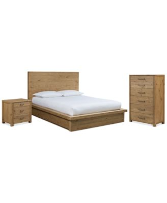 Furniture Abilene Solid Pine Storage Platform Bedroom