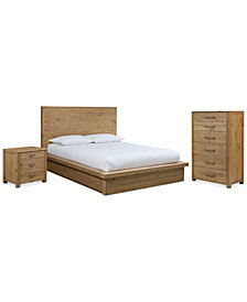 Abilene Storage Platform Bedroom Furniture, 3-Pc. Bedroom Set (Full Bed, Chest & Nightstand), Created for Macy's