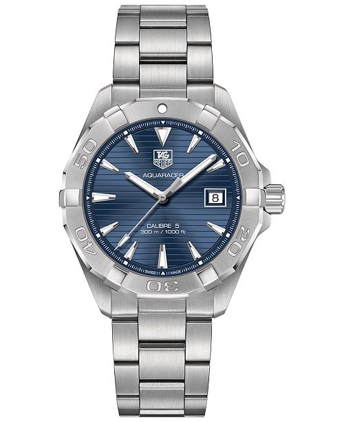 f5e7704844901 ... TAG Heuer Men s Swiss Aquaracer Calibre 5 Stainless Steel Bracelet Watch  ...