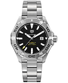 TAG Heuer Men's Swiss Aquaracer Calibre 5 Stainless Steel Bracelet Watch 43mm
