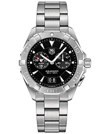 Men's Swiss Chronograph Aquaracer Alarm Stainless Steel Bracelet Watch 41mm