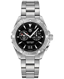TAG Heuer Men's Swiss Chronograph Aquaracer Alarm Stainless Steel Bracelet Watch 41mm