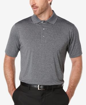 Pga Tour Men's Heathered Golf Polo Shirt 5238149