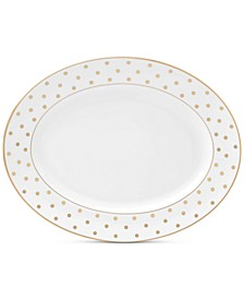 "Larabee Road Gold Collection Bone China 13"" Oval Platter"