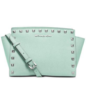 michael kors selma stud medium messenger handbags accessories rh macys com