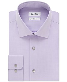 Men's Big & Tall Classic-Fit Non-Iron Herringbone Dress Shirt