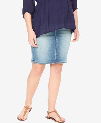 Motherhood Maternity Denim Skirt - Maternity - Women - Macy's