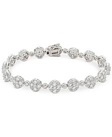 Arabella Swarovski Zirconia Cluster Link Bracelet in Sterling Silver
