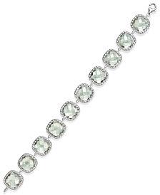 Green Amethyst Link Tennis Bracelet (60 ct. t.w.) in Sterling Silver