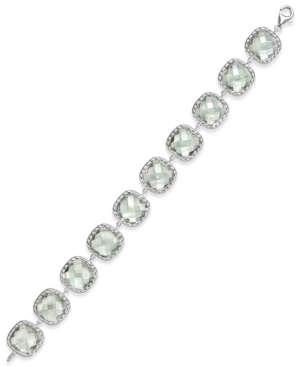 Green Amethyst Link Tennis Bracelet (60 ct. t.w.) in Sterling Silver