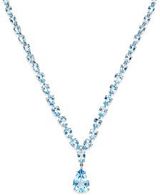 Blue Topaz Statement Necklace (30 ct. t.w.) in Sterling Silver