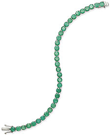 Emerald Tennis Bracelet (15 ct. t.w.) in Sterling Silver, Created for Macy's