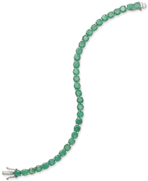 Emerald Tennis Bracelet (15 ct. t.w.) in Sterling Silver