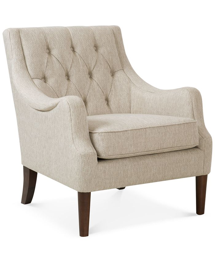 Furniture - Glenis Tufted Accent Chair, Direct Ship