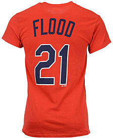 Majestic Men's Curt Flood St. Louis Cardinals Cooperstown Player T-Shirt