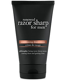 philosophy for men two-in-one cleansing shave cream, 5 oz