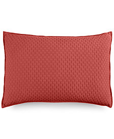 Hotel Collection Modern Geo Stripe Quilted Standard Sham, Created for Macy's