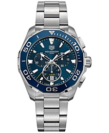 Men's Swiss Chronograph Aquaracer Stainless Steel Bracelet Watch 43mm
