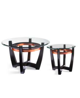 Elation 2Piece Set Round Coffee Table and End Table Furniture