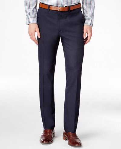 Kenneth Cole Reaction Men's Slim-Fit Stretch Dress Pants, Created ...