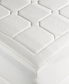 Dream Science Washable Memory Foam Full Mattress Pad by Martha Stewart Collection, Created for Macy's