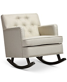 Bethany Light Beige Rocking Chair, Quick Ship
