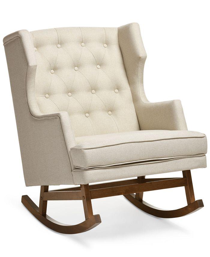 Furniture - Bethany Light Beige Rocker