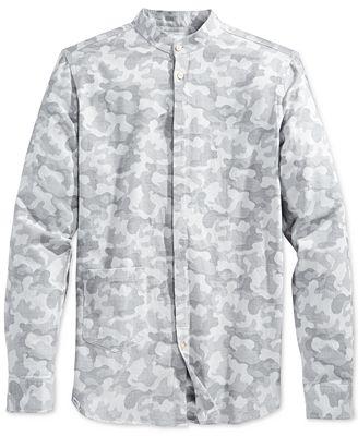 WeSC Men's Spring Camo Long Sleeve Shirt