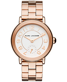 Marc Jacobs Women's Riley Rose Gold-Tone Stainless Steel Bracelet Watch 36mm