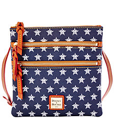 Dooney & Bourke Houston Astros Triple Zip Crossbody Bag