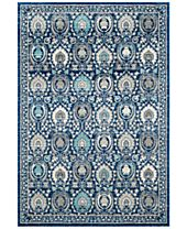 CLOSEOUT! Safavieh Evoke EVK251C Blue/Ivory Area Rugs