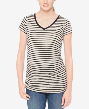 Motherhood Maternity V-Neck Striped Tee plus size,  plus size fashion plus size appare