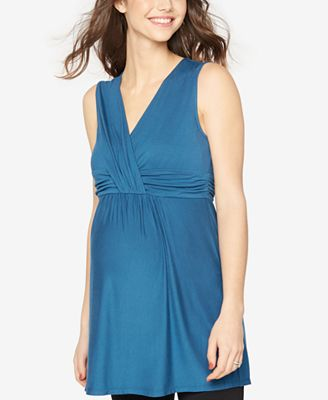 Rachel Zoe Maternity V-Neck Sleeveless Top