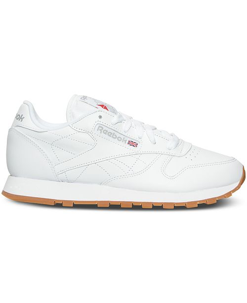 9e07f04da314c3 Reebok Women s Classic Leather Casual Sneakers from Finish Line ...