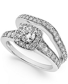 Diamond Frame Bridal Set (1-1/4 ct. t.w.) in 14k Yellow or White Gold