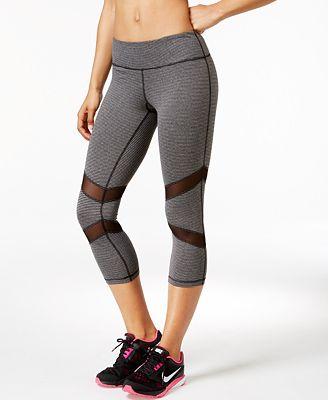 Ideology Striped Capri Leggings, Only at Macy's - Pants - Women ...