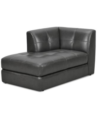CLOSEOUT! Fabrina Leather Chaise, Created for Macy's