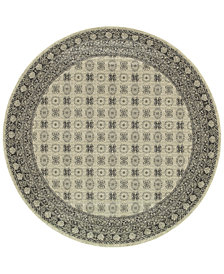 "Oriental Weavers Richmond Kandula Ivory/Grey 7'10"" Round Rug"