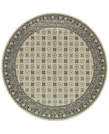 "Oriental Weavers Richmond Kandula Ivory/Grey 7'10"" Round Rug"